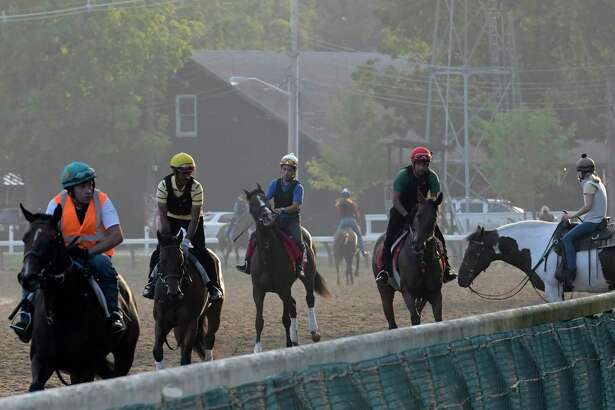 The action is picking up as more horses have arrived at the Saratoga Race Course for the 149th meeting at the historic venue Thursday July 20, 2017 in Springs, N.Y. (Skip Dickstein/Times Union)