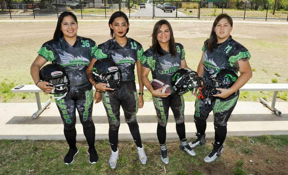 Claudia Chavez, Isela Garcia, Yvette Pena and Dyani Martinez are four of five All-Star selections for the Laredo Phantasy this season. Photo: Danny Zaragoza /Laredo Morning Times File / Laredo Morning Times
