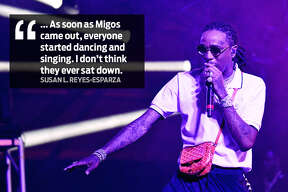 """Susan L. Reyes-Esparza """"... As soon as Migos came out, everyone started dancing and singing. I don't think they ever sat down."""""""