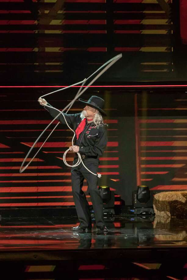 """Beaumont-native Chris McDaniel will appear on the NBC program""""Little Big Shots: Forever Young"""" on Feb. 26. The 61-year-old is a Wild West showman and a world champion trick roper. Photo: Ron Batzdorff/NBC / 2017 NBCUniversal Media, LLC"""