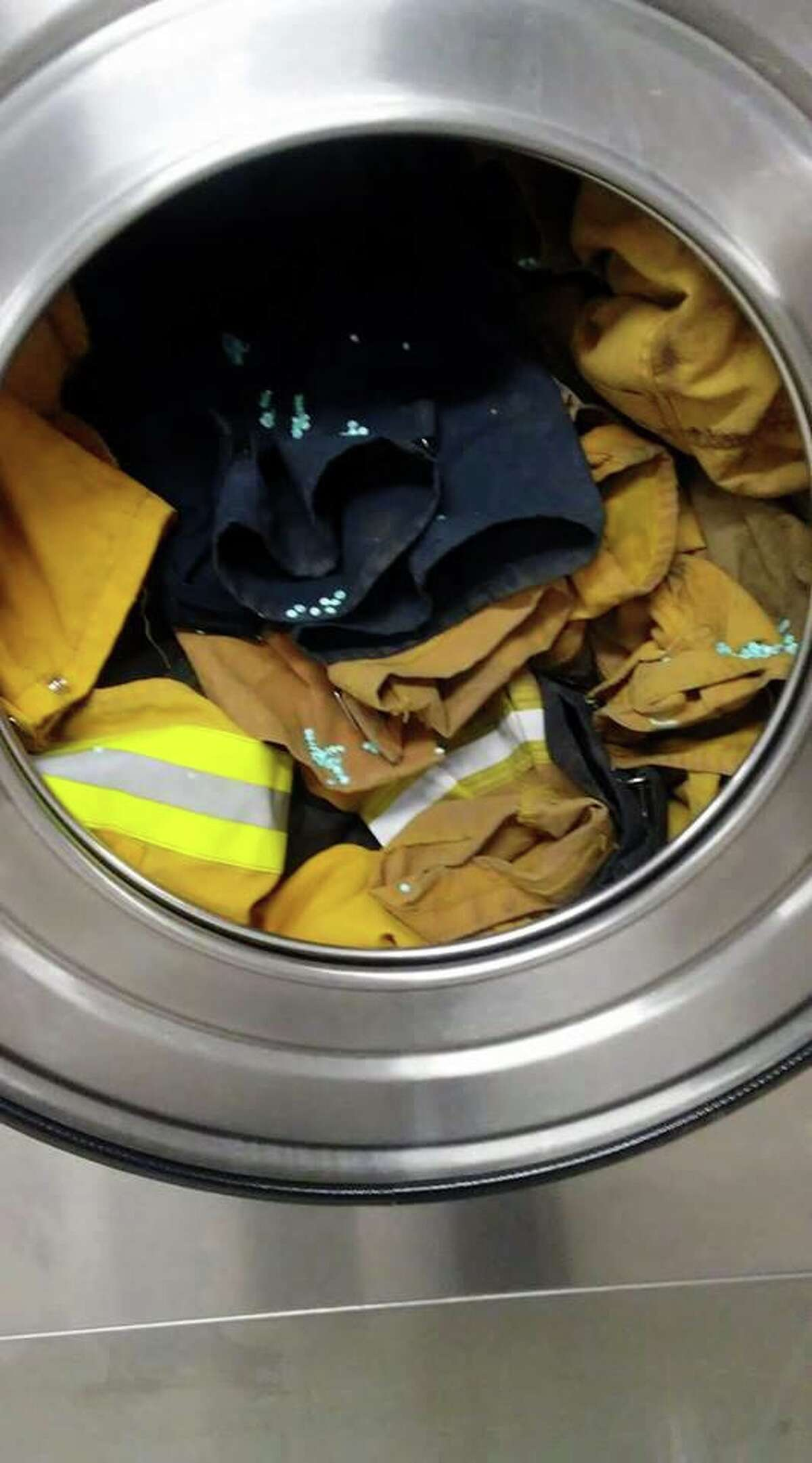 A hotel offered to wash a group of firefighters' uniforms for free.