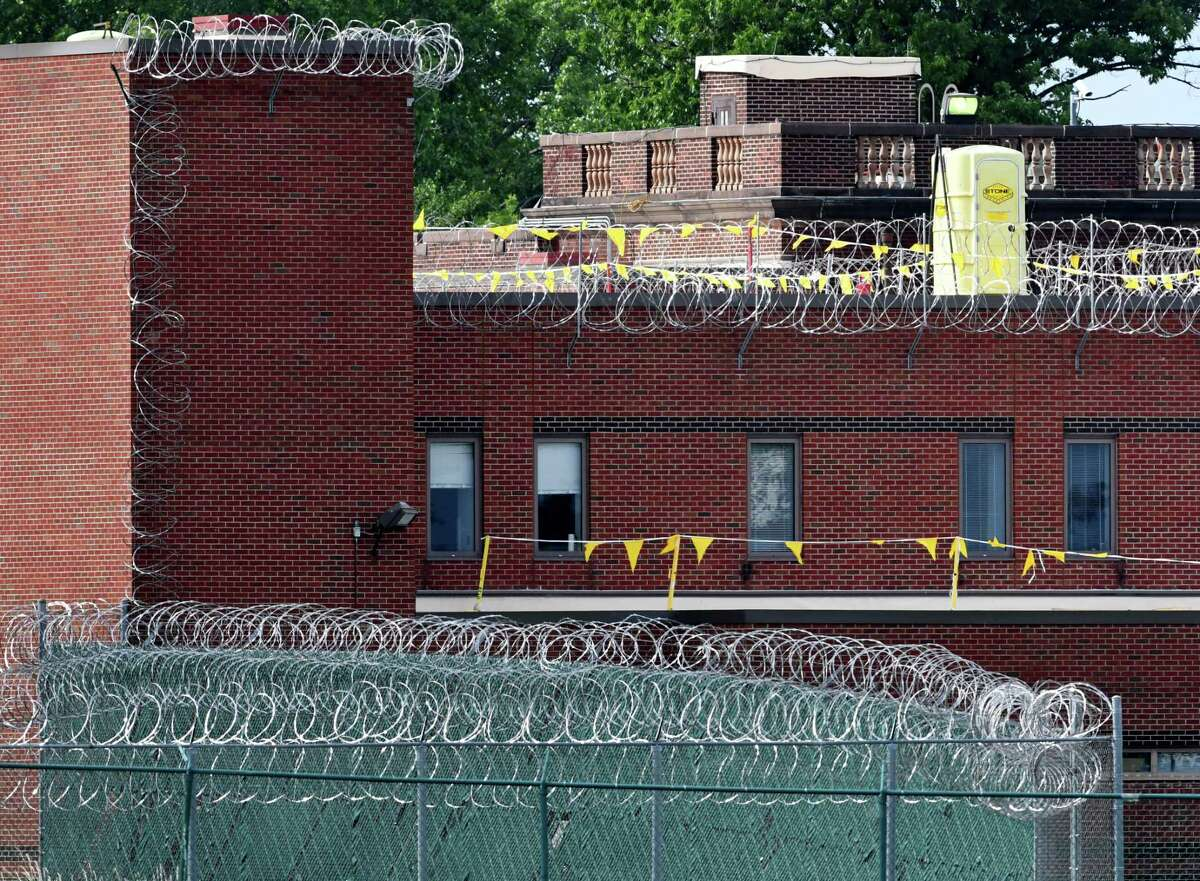 Exterior of teh Albany County Jail on Thursday, June 8, 2017, in Colonie, N.Y. (Will Waldron/Times Union)