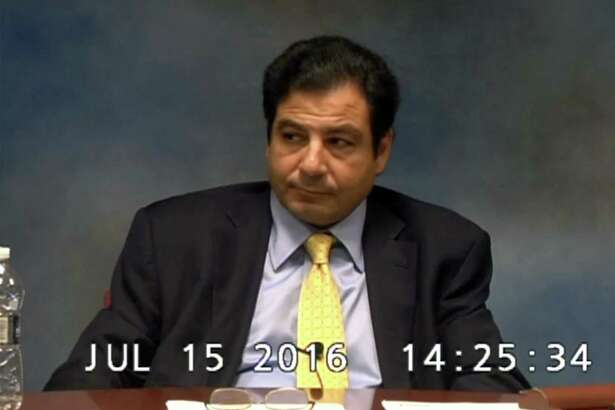 Emre Umar, president of Correctional Medical Care, is questioned on the death of Mark Cannon during a deposition on July 15, 2016.