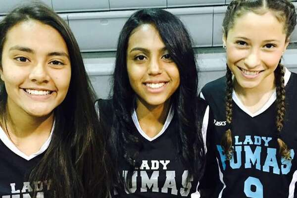 Ashlyn Rivera (middle) was airlifted to a San Antonio hospital on Thursday after falling from a moving pickup truck.