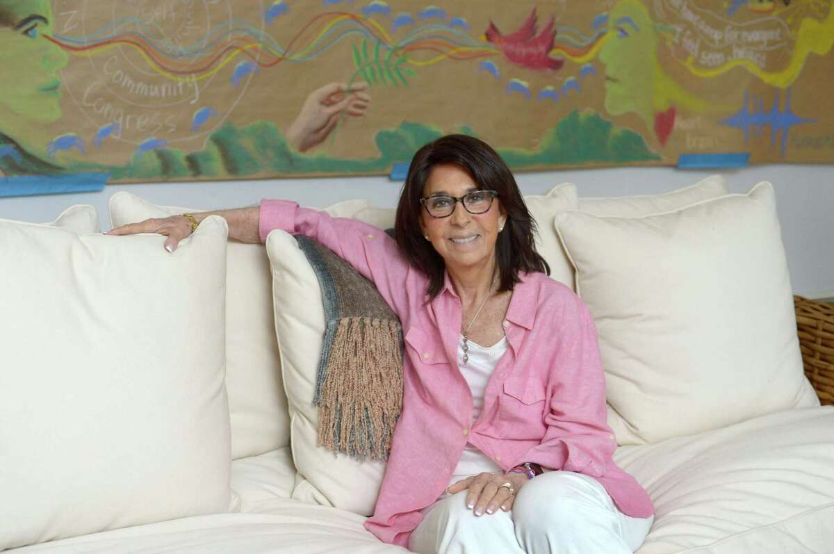 Founder of CreatingWe, Judith Glaser, in her home Friday, July 7, 2017, in Norwalk, Conn.