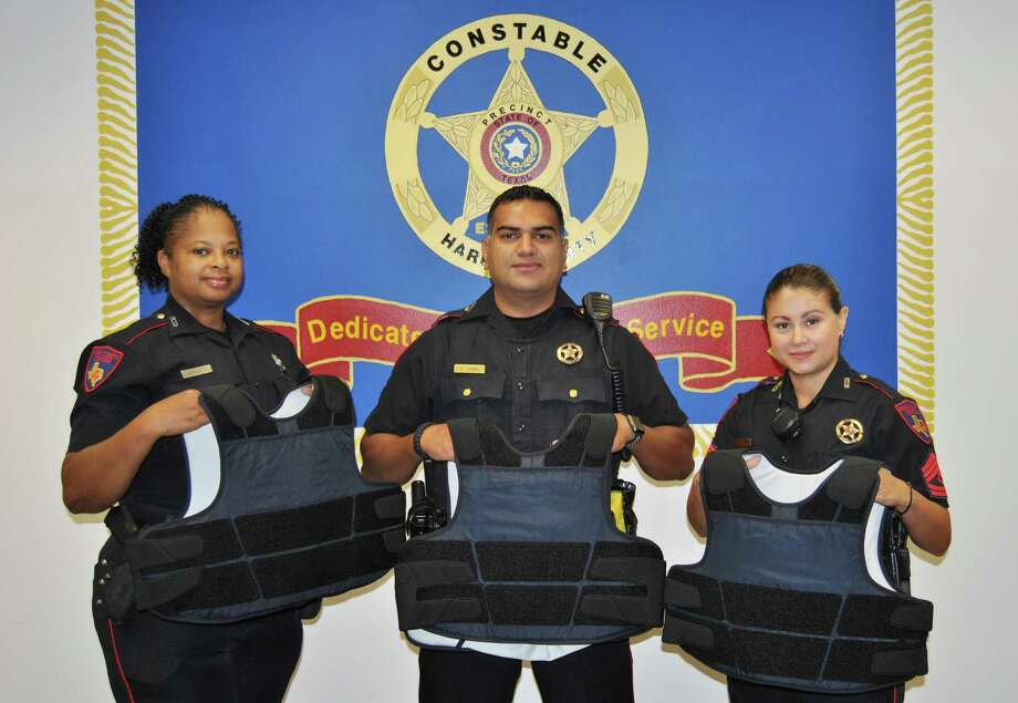 Pct. 4 Harris County Constable Deputies take a photo with new state-of-the-art ballistic vests purchased by Constable Mark Herman to protect deputies while on patrol. Photo: Courtesy Of Harris County Constable Pct. 4
