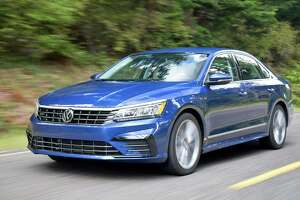 The 2017 R-Line is positioned as the sportiest Passat and gets its own rocker panels, front bumper with contrasting black accents and a modified rear diffuser.