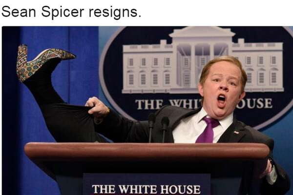 Sean Spicer is out at White Press secretary and Twitter can't contain itself.
