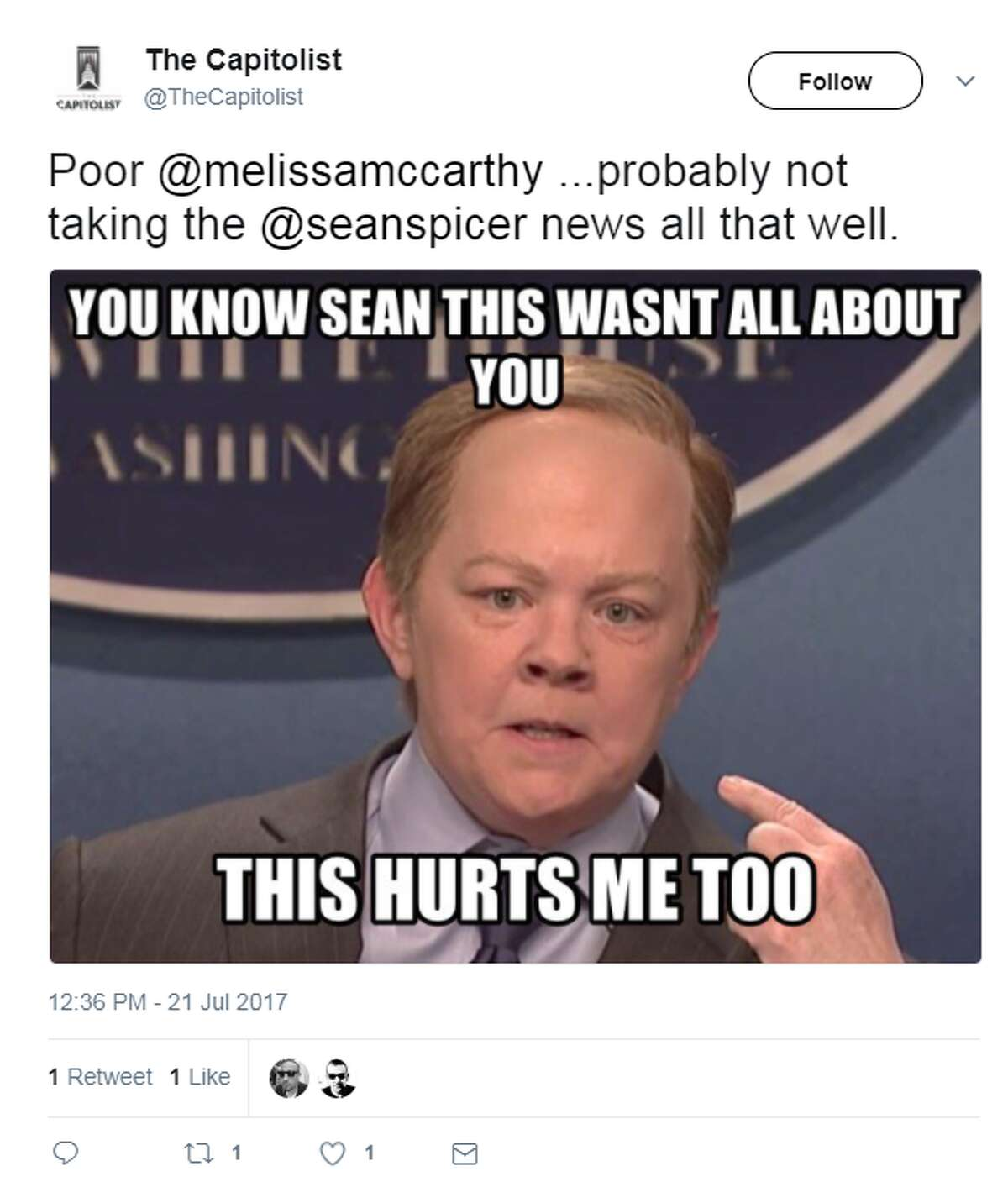Sean Spicer is out at White Press secretary and Twitter can't contain itself. (Twitter)