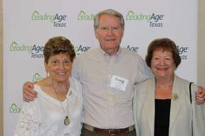 From left are Inge Liesner, Doug Meyers and Eve France. They were recognized by LeadingAge Texas for their artistic accomplishments.
