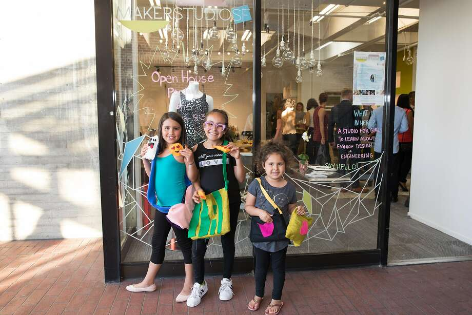 KiraKira Maker Studio Pop Up, at Ghirardelli Square through Dec. 30, is a whimsical workshop focused on introducing STEM skills to girls ages 8 to 17 via laser-cutters, sewing machines, wood-cutters, 3-D printers and scanners from HP, Autodesk and True Ventures. Photo: Ellian.co