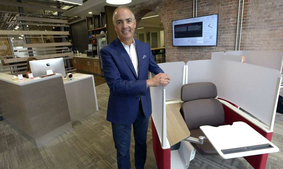 John Arenas is CEO of Serendipity Labs, which operates a shared working complex at 700 Canal Street in Stamford, Conn. Photo: Matthew Brown / Hearst Connecticut Media / Stamford Advocate