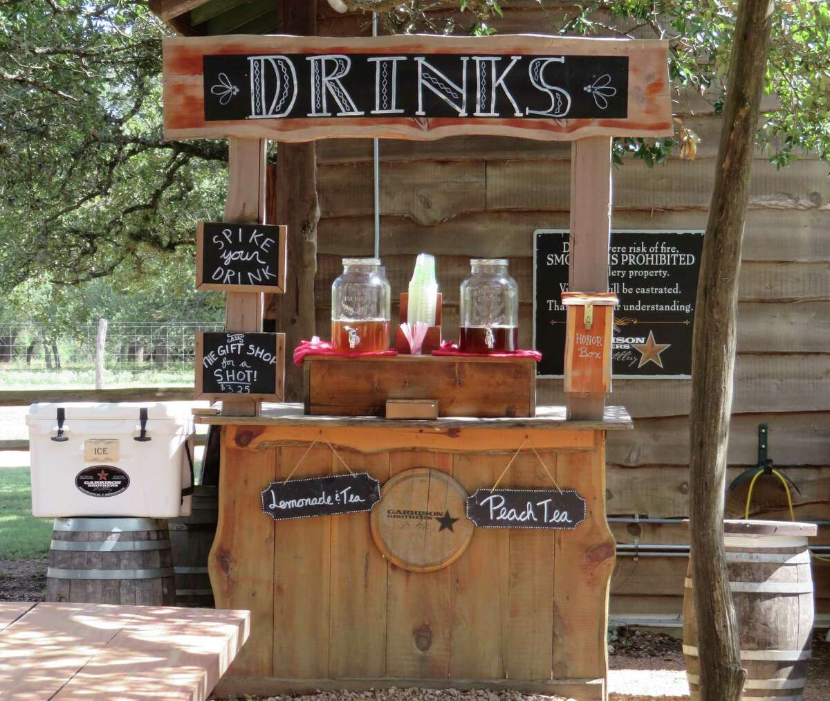 Garrison Brothers Distillery near Hye is turning out some good sipping whisky, which makes flights a popular choice at the ranch a few miles south of Highway 290. But if you like to spike your lemonade tea or peach tea with some smooth spirits, you can get a shot inside the gift shop.