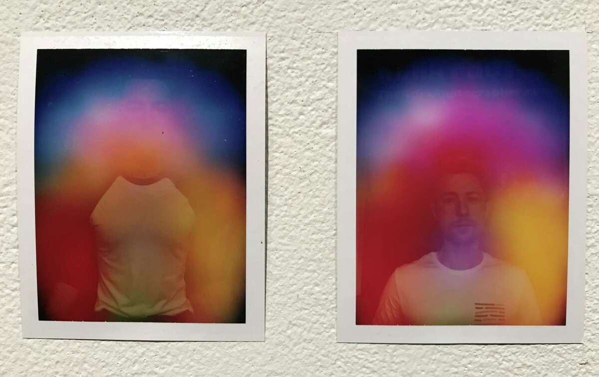 """A detail of Zachary Gresham's """"Channeling Is Possible/Twelve Months of Auras,"""" one of three award-winners in """"The Big Show"""" at Lawndale Art Center."""
