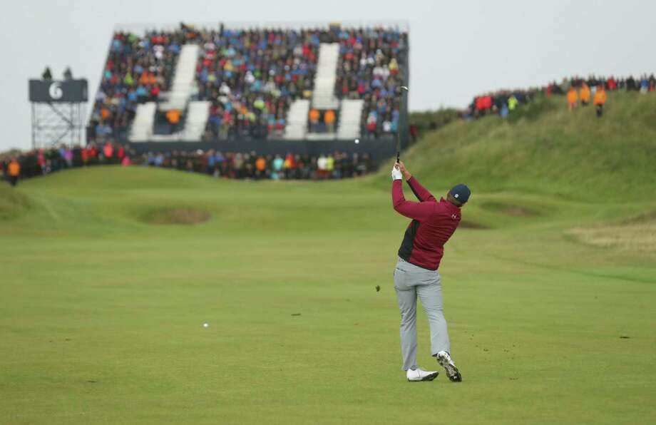 Jordan Spieth of the United States plays a shot on the 6th hole during the second round of the British Open Golf Championship, at Royal Birkdale, Southport, England, Friday July 21, 2017. (AP Photo/Peter Morrison) Photo: Peter Morrison, STR / Copyright 2017 The Associated Press. All rights reserved.