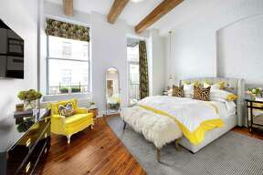 One can't help but smile at 85 North 3rd Street's master bedroom flooded with sunlight, and with yellow accents to match. On the market with Halstead's Ari Harkov and Warner Lewis for $3,495,000.