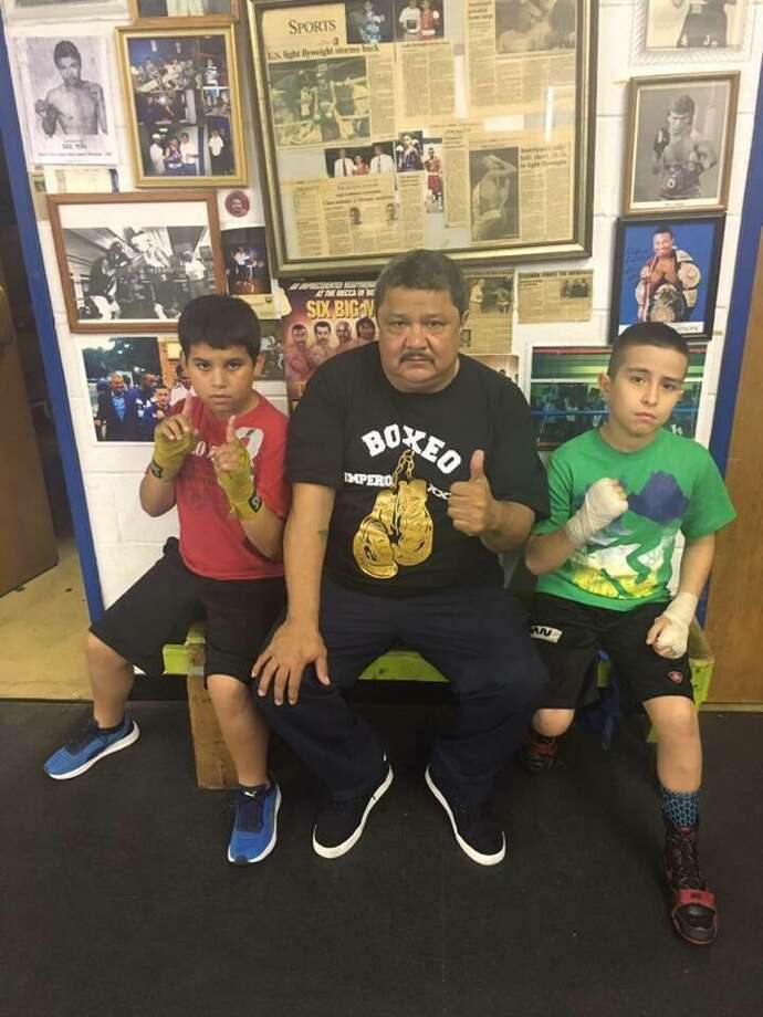 San Antonio boxing coach, Andy Pastran, volunteers at his new gym to train disadvantaged kids. Photo: Courtesy Andy Pastran