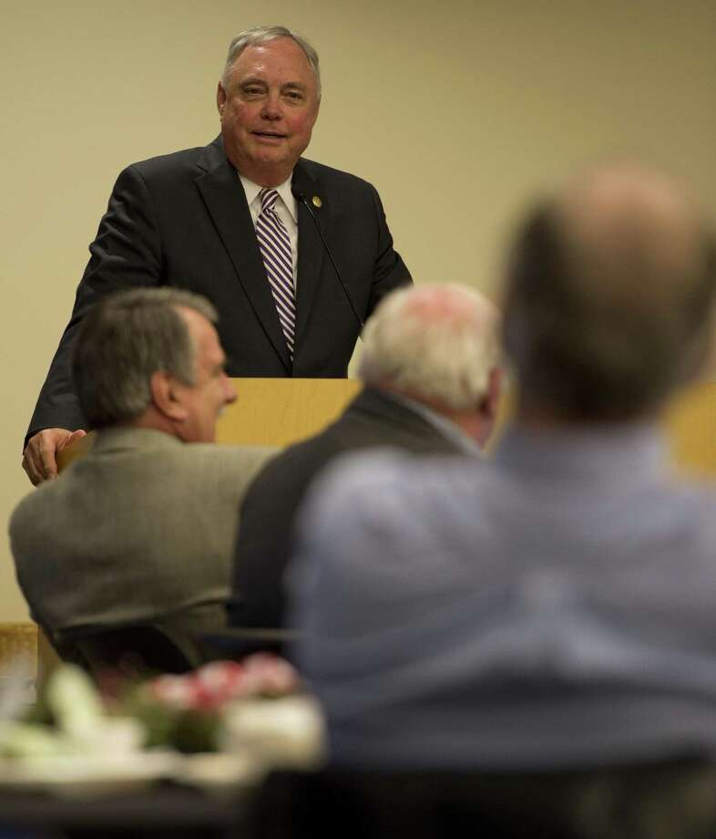 Rep. Drew Darby, speaking here in 2015, invoked legislative privilege when testifying in a federal court hearing in San Antonio on whether the state's redistricting maps intentionally discriminate. Why invoke the privilege if all is on the up and up. Photo: Tim Fischer /Midland Reporter-Telegram