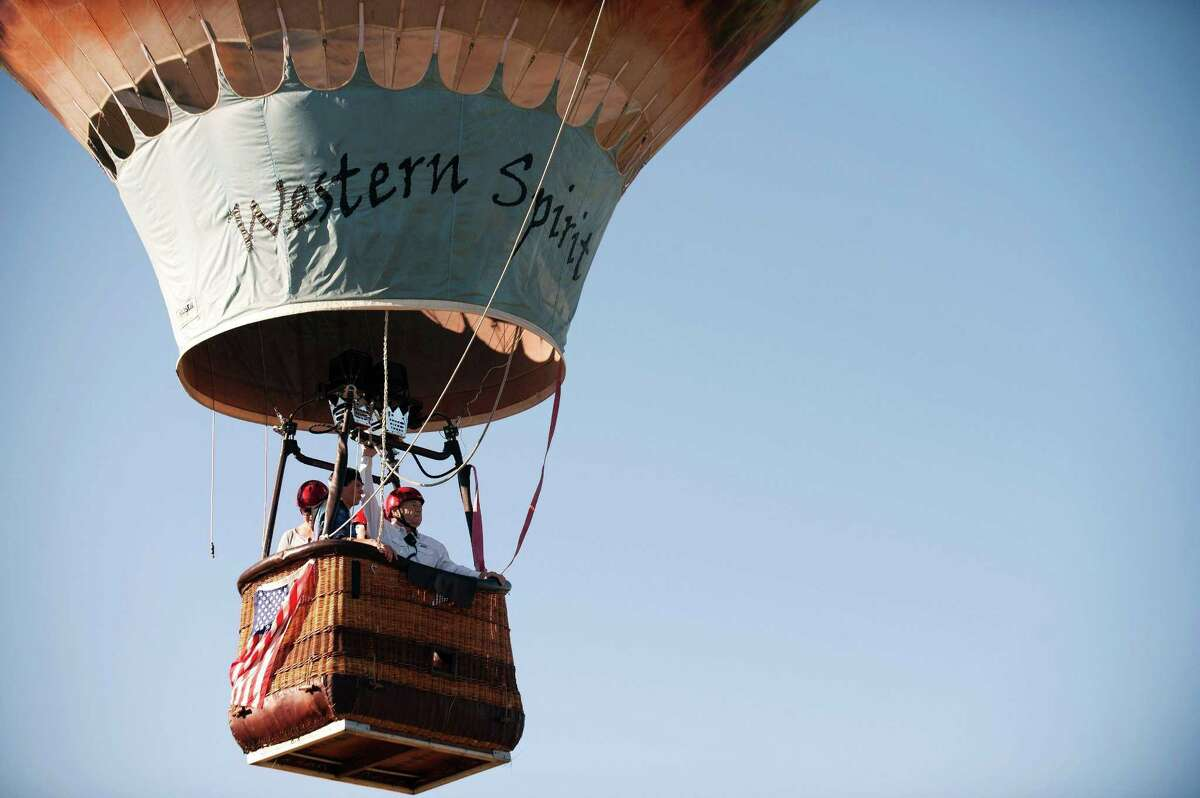 Western Spirit takes flight during the 36th Annual Hot Air Balloon Rodeo in Steamboat Springs, Colorado on July 9. Looks like fun, but now imagine a gun on board. What could go wrong?