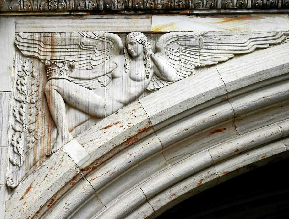 (Peter Hvizdak - New Haven Register) Aphrodite Carvings at Yale on High Street near College Street January 3, 2015 Photo: ©2014 Peter Hvizdak / ©2014 Peter Hvizdak