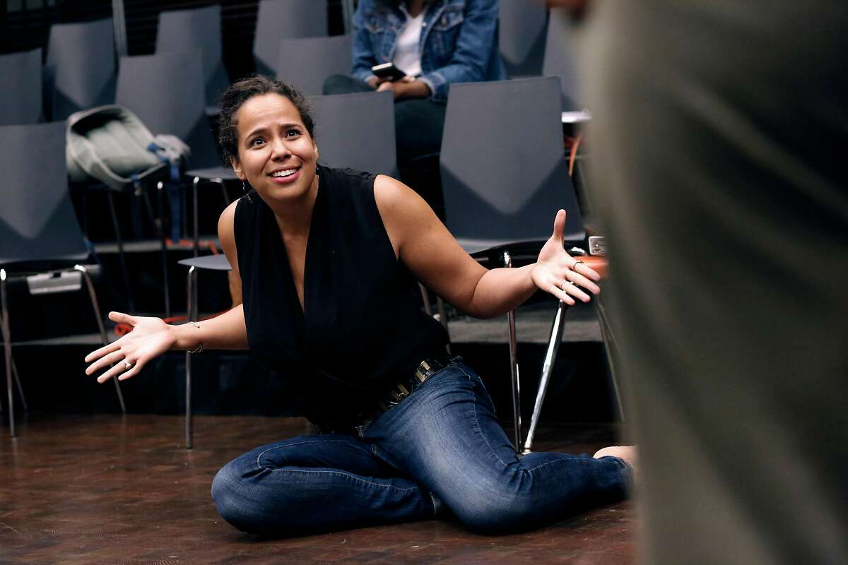 The director Lauren Spencer, during rehearsals for