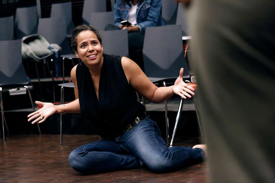 "The director Lauren Spencer, during rehearsals for ""Black Butterflies"" at the ACT Theater in San Francisco, Ca., on Monday July 17, 2017. Photo: Michael Macor, The Chronicle"