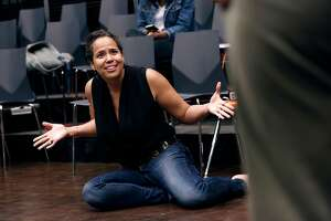 """The director Lauren Spencer, during rehearsals for """"Black Butterflies"""" at the ACT Theater in San Francisco, Ca., on Monday July 17, 2017."""