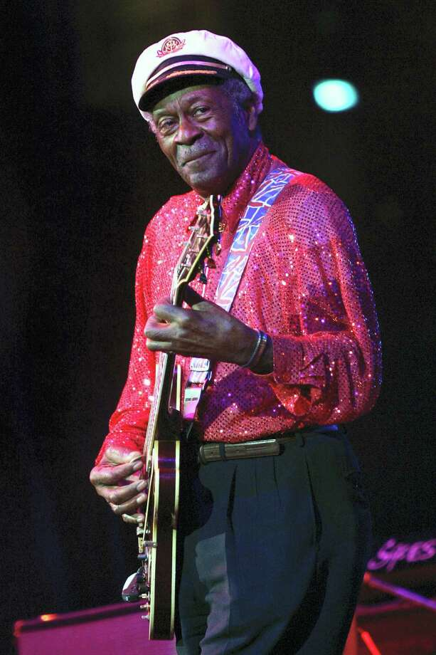FILE - In this Saturday, May 30, 2009 file photo, Chuck Berry performs at The Domino Effect, a tribute concert to New Orleans rock and roll musician Fats Domino, at the New Orleans Arena in New Orleans. On Saturday, March 18, 2017, police in Missouri said Berry has died at the age of 90. (AP Photo/Patrick Semansky) Photo: AP / 2009 AP