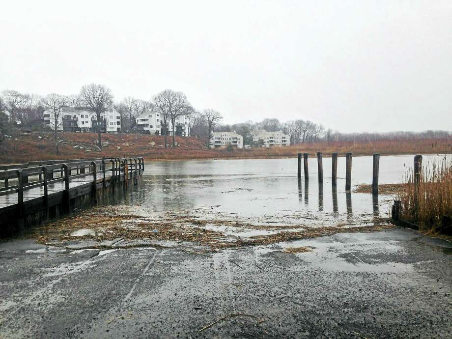 Branford River state boat launch at 38 Goodsell Point Rd., Branford, Feb 24, 2016. Photo: Journal Register Co.