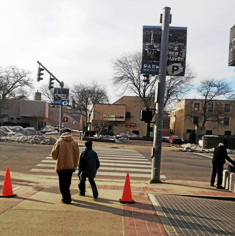 Mary O'Leary - New Haven Register) The crosswalk in front of Union Station in New Haven. Photo: Journal Register Co.