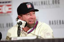 Inductee Jeff Bagwell speaks during the 2017 Baseball Hall of Fame press conference on Jan. 19 at the St. Regis Hotel in New York City.