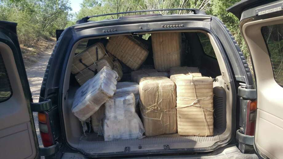 Border Patrol agents seized a total of 58 bundles of marijuana, weighing 1,181 pounds, that were in an SUV abandoned by the driver, according to a news release. Photo: Courtesy Photo