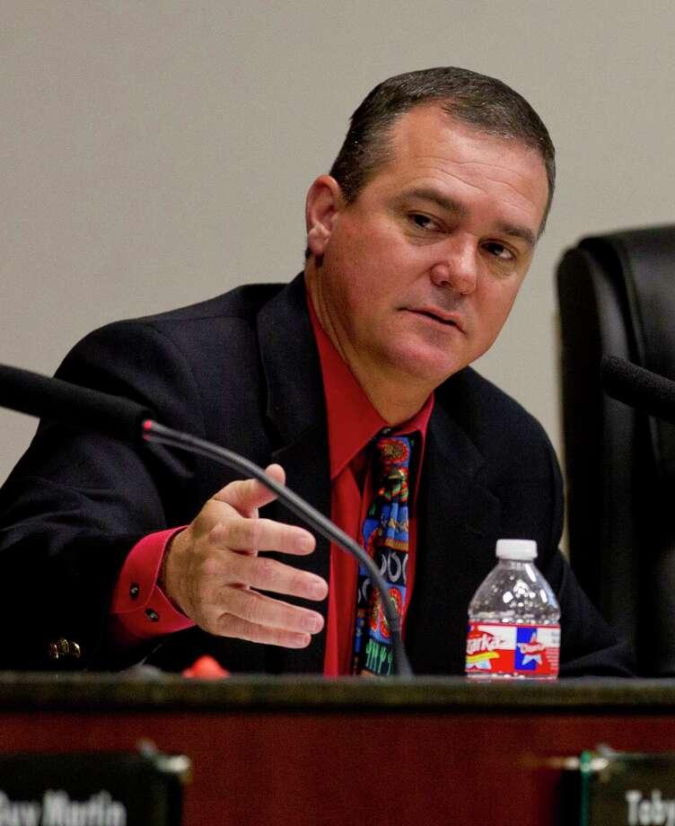 Conroe City Council member Duane Ham speaks during a city council meeting at Conroe Tower Thursday, Feb. 23, 2017, in Conroe. Photo: Jason Fochtman, Staff Photographer / © 2017 Houston Chronicle