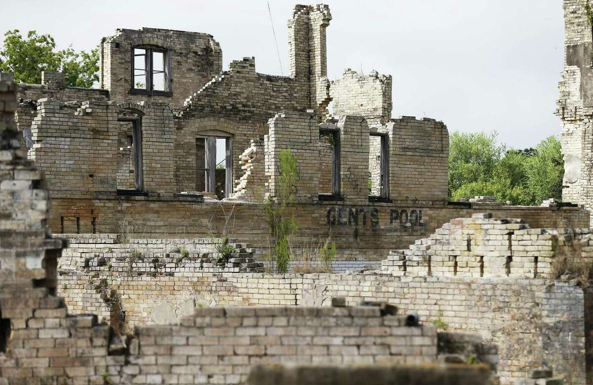 Construction crews at the ruins of the Hot Wells resort are converting the property into a county park.