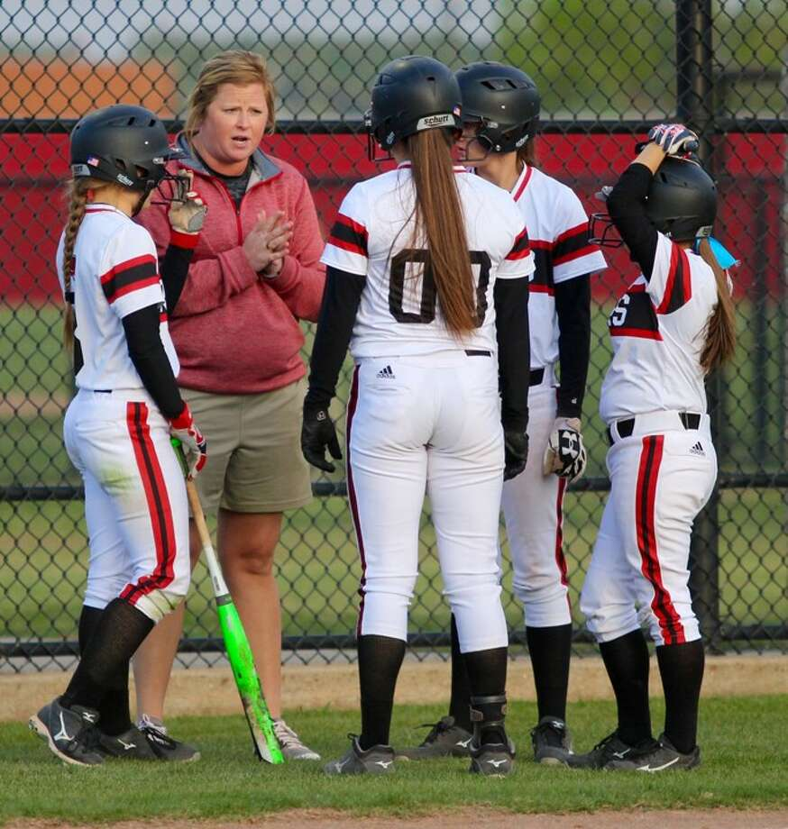 Anna Whiddon, shown here coaching her old team, Mineral Wells, has been hired as the new softball coach at New Caney High School. Photo: Clint Foster