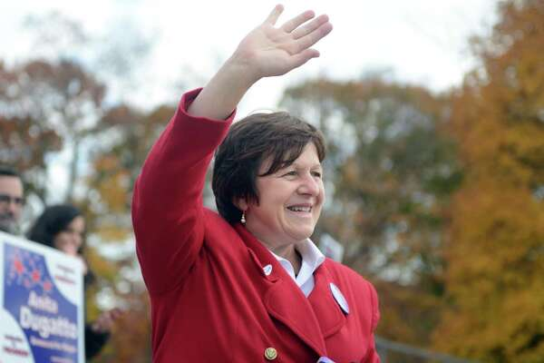 Mayoral candidate Anita Dugatto overturned the Town Committee's endorsement of Carmen DiCenso for mayor Friday.