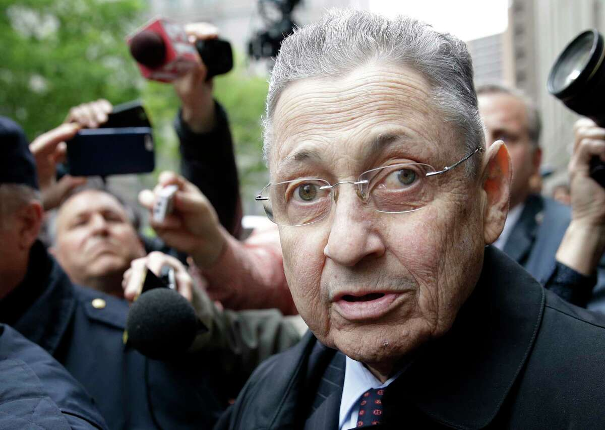 Former Assembly Speaker Sheldon Silver leaves court in New York, Tuesday, May 3, 2016. The former New York Assembly Speaker was sentenced to 12 years in prison Tuesday, capping one of the steepest falls from grace in the state's lineup of crooked politicians for a consummate backroom dealer who wielded power for over two decades. (AP Photo/Seth Wenig) ORG XMIT: NYSW117