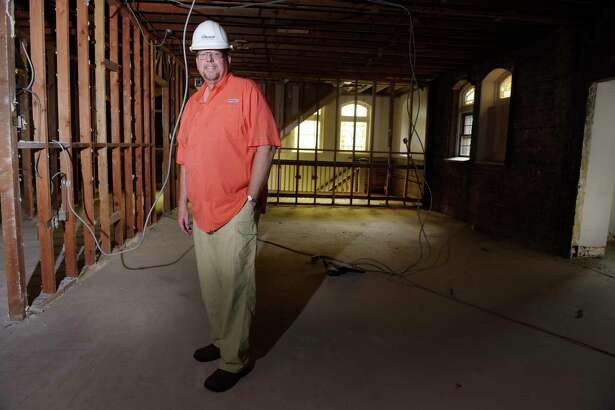 Fred Daniels, the chairman of the building committee at the First Reformed Church of Schenectady, stands on the second floor of the Poling House which is adjacent to the church, on Tuesday, July 18, 2017, in Schenectady, N.Y.  As part of a renovation project the second and third floor of the Poling House will be removed to create an open area on the first floor and will become the church's Covenant Hall that will serve as an assembly space.     (Paul Buckowski / Times Union)