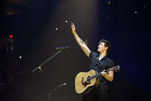 Shawn Mendes performs Friday at the AT&T Center in San Antonio. Mendes and Charlie Puth teamed up for a concer that draw a crowd topping 14,000, making it one of the biggest concerts of the year.