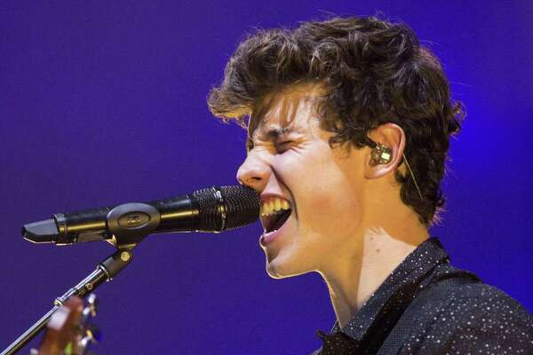 Shawn Mendes performs Friday at the AT&T Center in San Antonio.