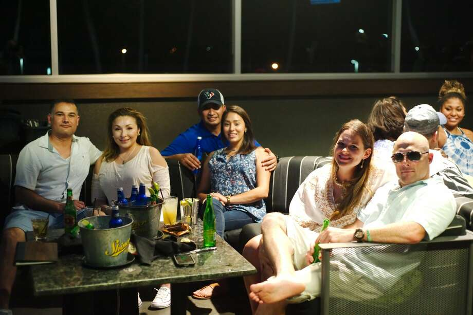 TopGolf Webster brought the partiers out with games, DJs and food. Photo: Kirk Sides/Houston Chronicle