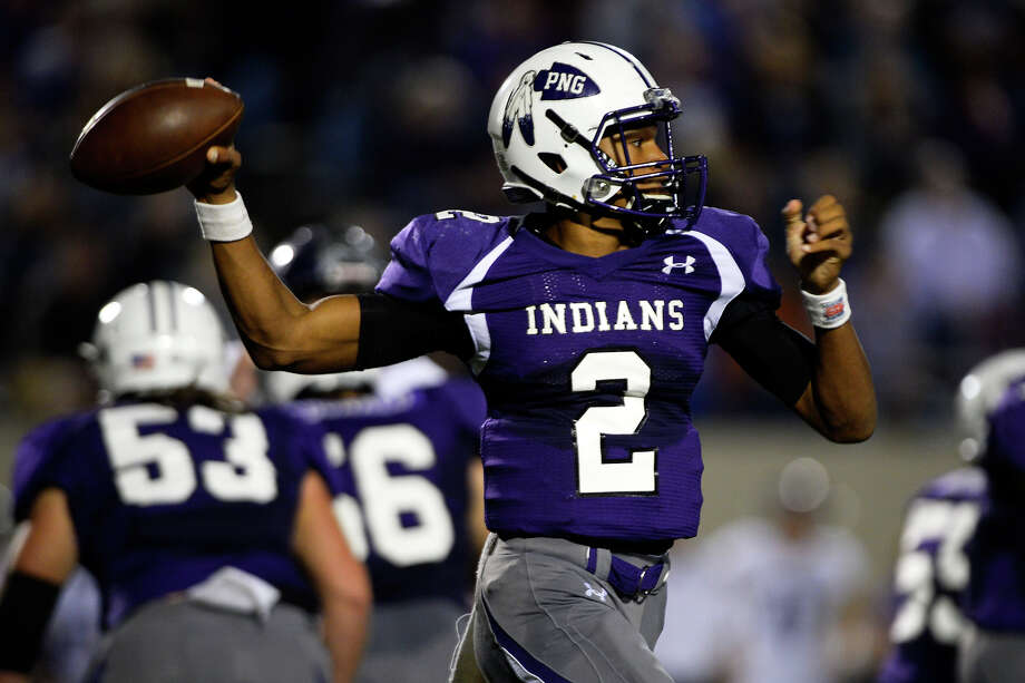 Port Neches-Groves quarterback Roschon Johnson passes during the second quarter against College Station at Stallworth Stadium in Baytown on Friday night.  Photo taken Friday 11/25/16 Ryan Pelham/The Enterprise Photo: Ryan Pelham / ©2016 The Beaumont Enterprise/Ryan Pelham