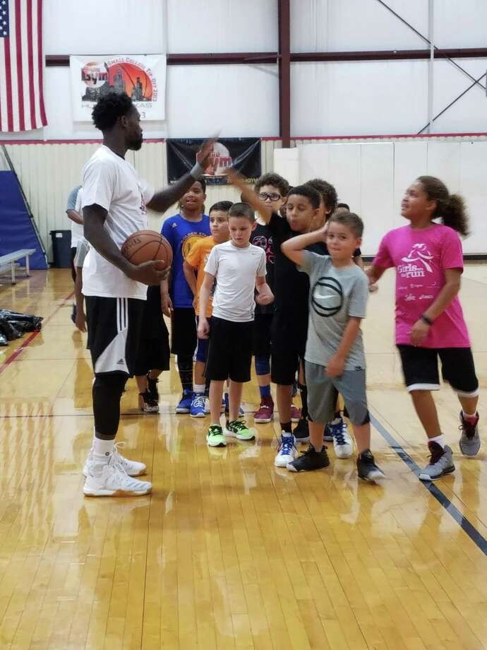 Patrick Beverley interacted with campers on the court throughout the Patrick Beverley Camp Lockdown, which was hosted at The Gym in Humble the week of July 17-21 Photo: Anissa Veal, The Gym
