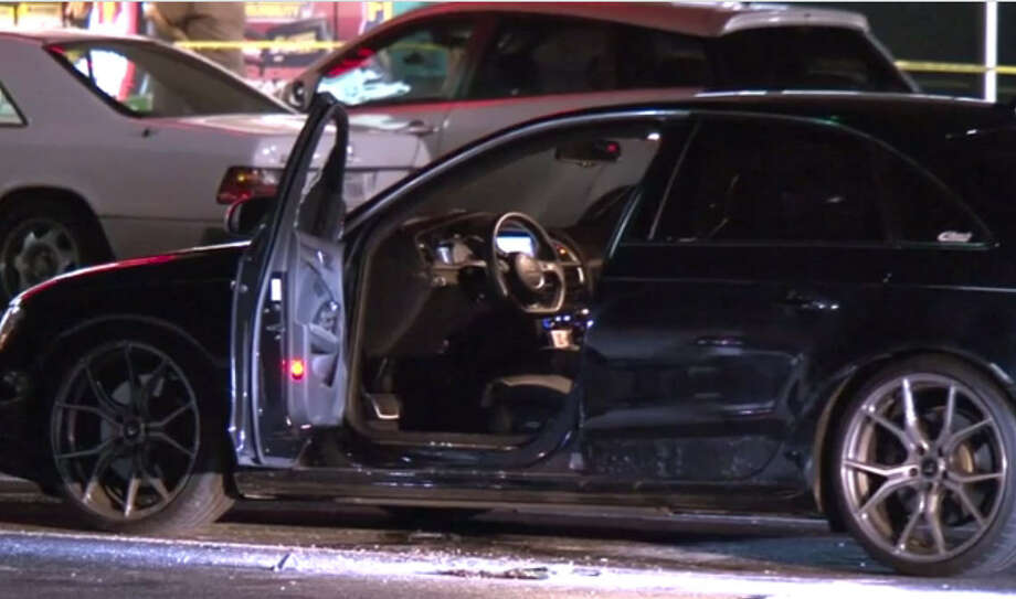 A motorist sitting in his car late Friday was shot in a southwest Houston shopping center parking lot. Photo: Metro Video