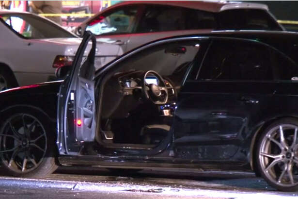 A motorist sitting in his car late Friday was shot in a southwest Houston shopping center parking lot.