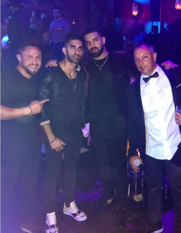 A reader shared this photo of Drake at his pop up club,