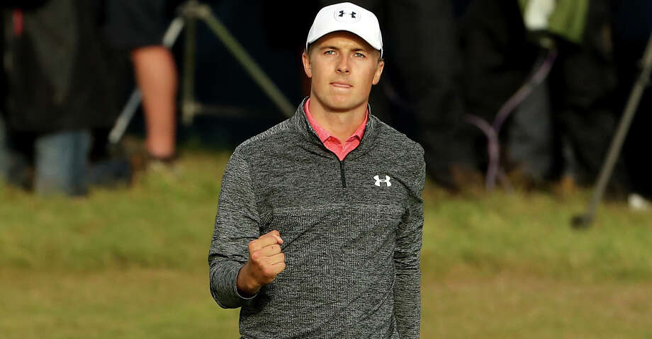 SOUTHPORT, ENGLAND - JULY 22:  Jordan Spieth of the United States celebrates a birdie on the 18th green during the third round of the 146th Open Championship at Royal Birkdale on July 22, 2017 in Southport, England.  (Photo by Christian Petersen/Getty Images) Photo: Christian Petersen/Getty Images