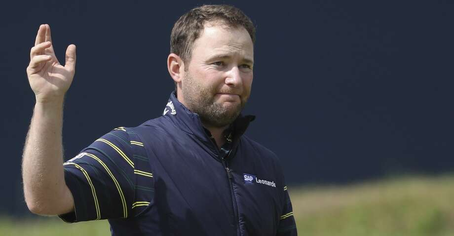 South Africa's Branden Grace leaves the 18th green after the third round of the British Open Golf Championship, at Royal Birkdale, Southport, England, Saturday July 22, 2017. (AP Photo/Peter Morrison) Photo: Peter Morrison/Associated Press