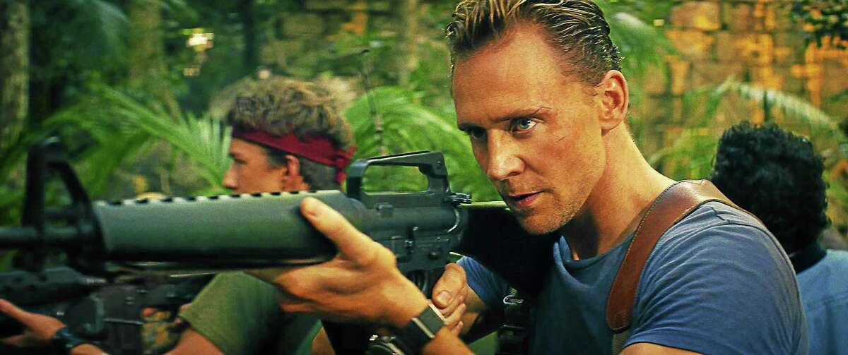 COURTESY OF WARNER BROS. PICTURES (L-R) THOMAS MANN as Slivko and TOM HIDDLESTON as James Conrad in Warner Bros. Pictures', Legendary Pictures' and Tencent Pictures' action adventure