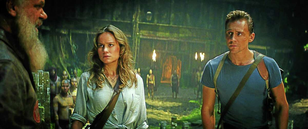 PHOTO COURTESY OF WARNER BROS. PICTURES (L-R) BRIE LARSON as Mason Weaver and TOM HIDDLESTON as James Conrad in Warner Bros. Pictures', Legendary Pictures' and Tencent Pictures' action adventure